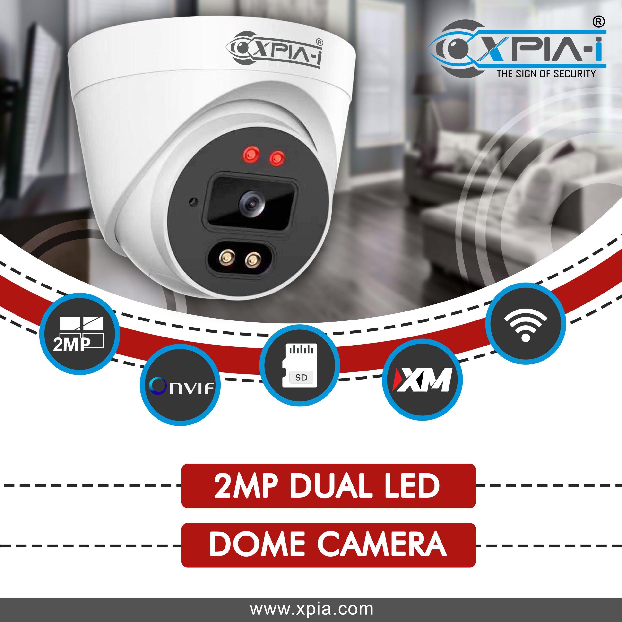 2 DUAL LED Dome Camera
