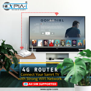 Smart T.V. Connectivity with 4G Router